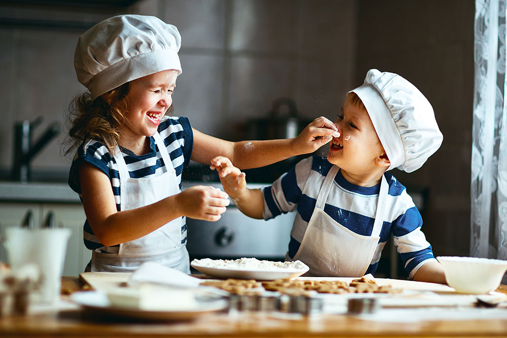 children baking Junior Kitchen Leeds